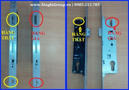 Hình ảnh khóa Kinlong chính hãng & khóa Kinlong giả nhái