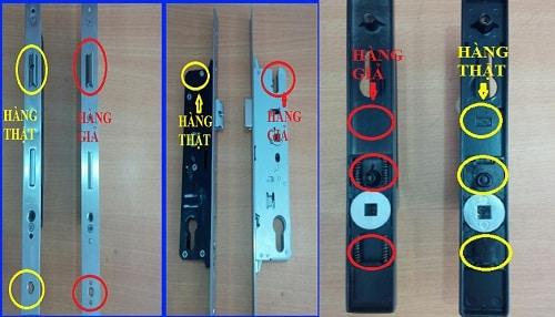 Hình ảnh ổ lõi khóa Kinlong chính hãng & ổ lõi khóa Kinlong giả nhái