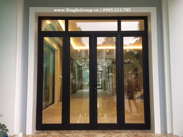 Cửa nhôm Xingfa mầu đen tuyền 4 cửa